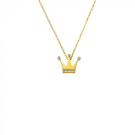 "Image of """"Tiny Crown"" gold necklace K14"""