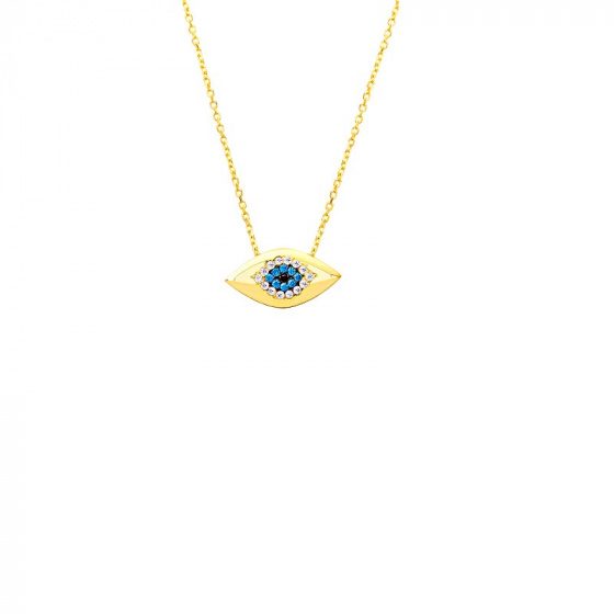 "Image of """"Shiny Eye"" gold necklace K14"""