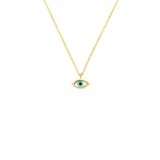 "Image of """"Tiny Eye"" gold necklace K14"""
