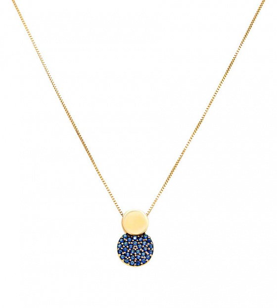 "Image of """"Blue Planet"" gold K14 necklace"""