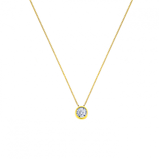 "Image of ""Gold necklace K14 with diamond, IGP11330"""