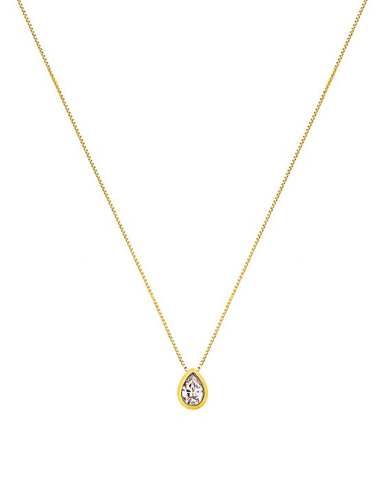 """Image of """"""""Lonely Tear #1"""" gold necklace K9"""""""