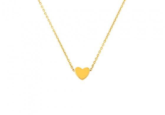"Image of """"Festive Heart"" gold necklace K9"""