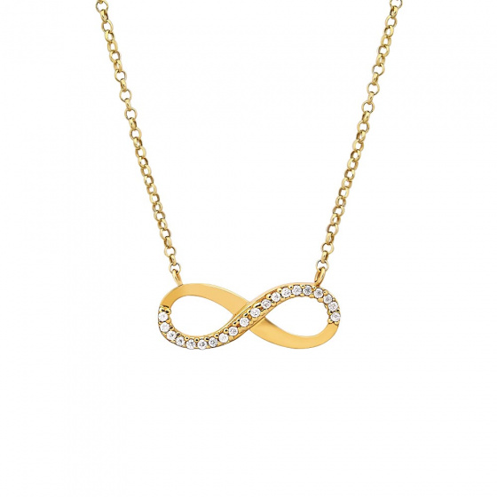 """Image of """"""""Infinity"""" gold K9 necklace"""""""