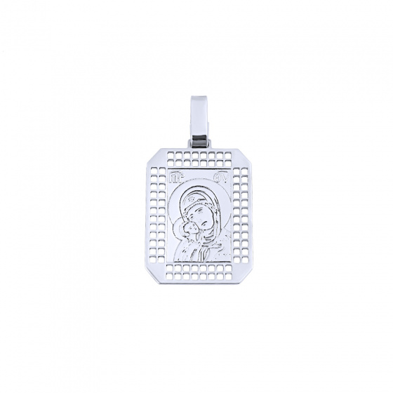"""Image of """"Silver pendant with Virgin Mary and the Holy Infant"""""""