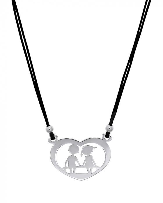 "Image of """"Sweet Children"" silver pendant"""