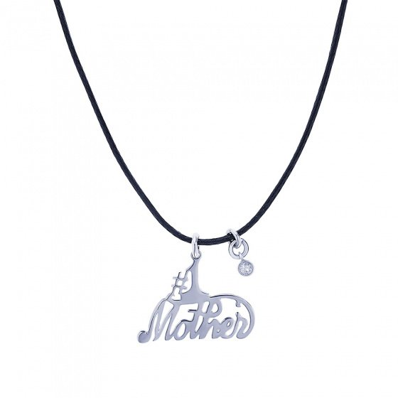 "Image of """"Mother #1"" silver pendant"""