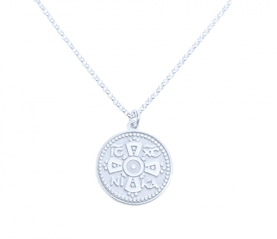 "Image of """"Constantinato #1"" silver pendant (big)"""