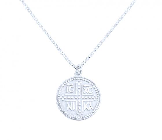 "Image of """"Constantinato #2"" silver pendant (big)"""