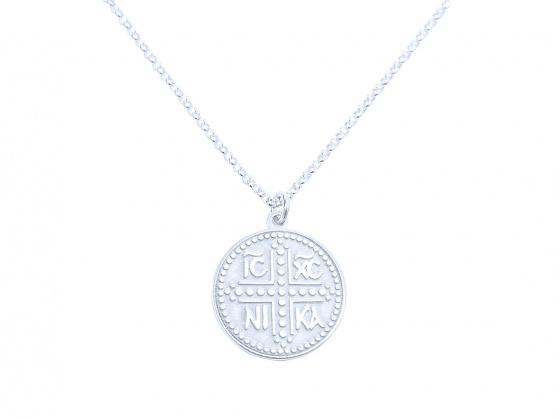 """Image of """"""""Constantinato #2"""" silver pendant (small)"""""""