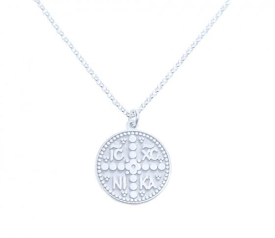 "Image of """"Constantinato #3"" silver pendant (big)"""