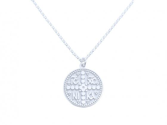 """Image of """"""""Constantinato #3"""" silver pendant (small)"""""""