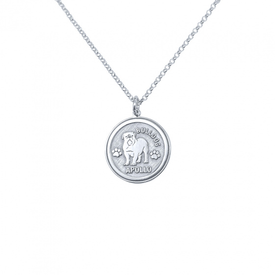 "Image of ""Custom Made ""My Doggie"" silver pendant (big)"""