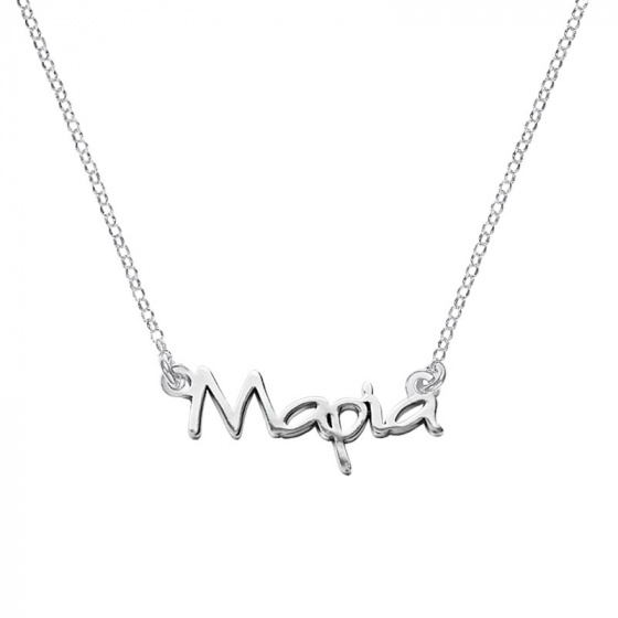 "Image of """"Maria"" silver custom necklace"""