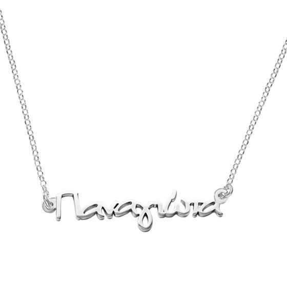 "Image of """"Panagiota"" silver custom necklace"""