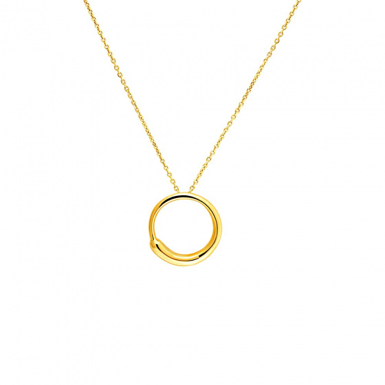 "Image of """"Perfect Zero"" silver pendant gold plated"""