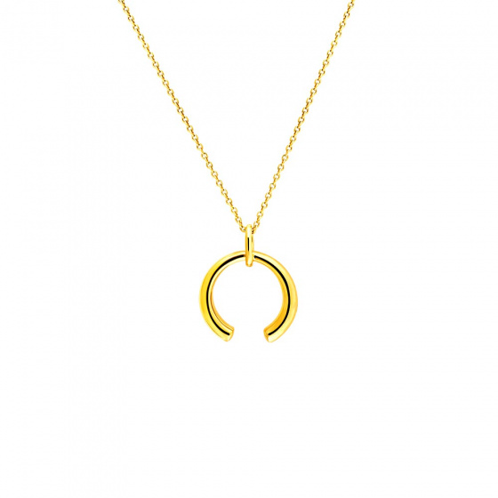 "Image of """"Aura"" silver pendant gold plated"""