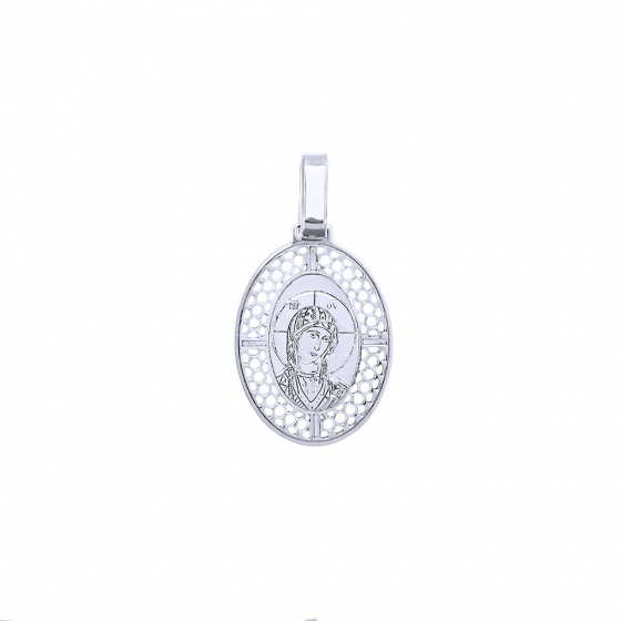 """Image of """"White gold pendant K14 with Virgin Mary"""""""