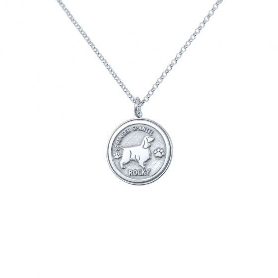"Image of ""Custom Made ""My Doggie"" white gold pendant K14 (big)"""