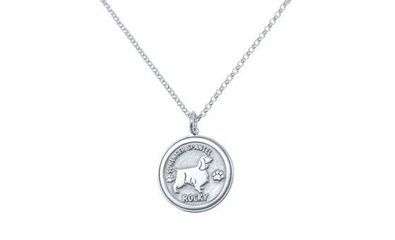 "Image of ""Custom Made ""My Doggie"" white gold pendant K14 (small)"""