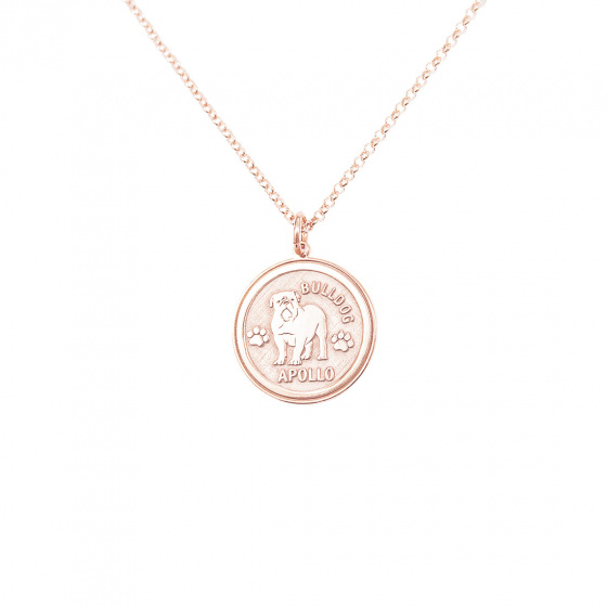 "Image of ""Custom Made ""My Doggie"" rose gold pendant K14 (big)"""