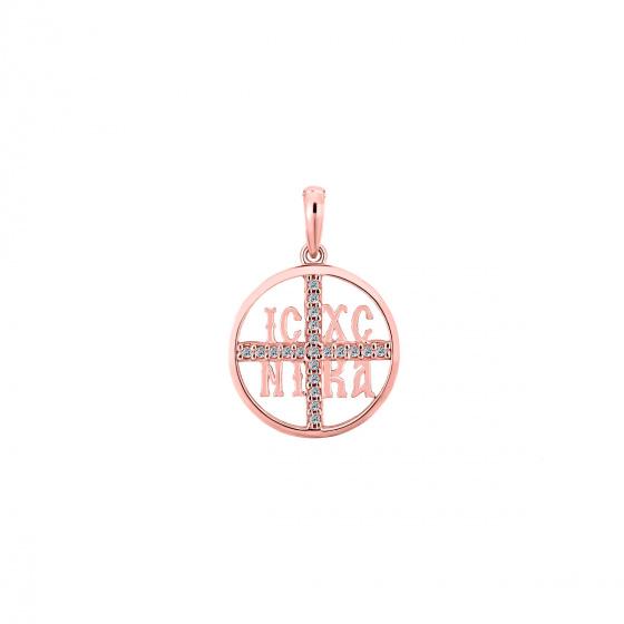 "Image of """"Constantinato #4"" rose gold K14 pendant """