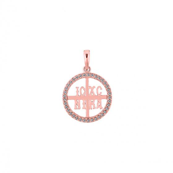 "Image of """"Constantinato #5"" rose gold pendant K14"""