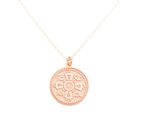 "Image of """"Constantinato #1"" silver pendant rose gold plated (big)"""