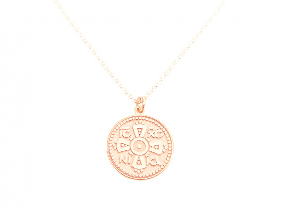 "Image of """"Constantinato #1"" silver pendant rose gold plated (small)"""