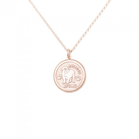 "Image of ""Custom Made ""My Doggie"" silver pendant rose gold plated (big)"""