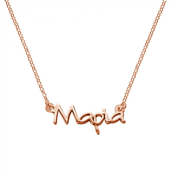 "Image of """"Maria"" silver custom necklace rose gold plated"""