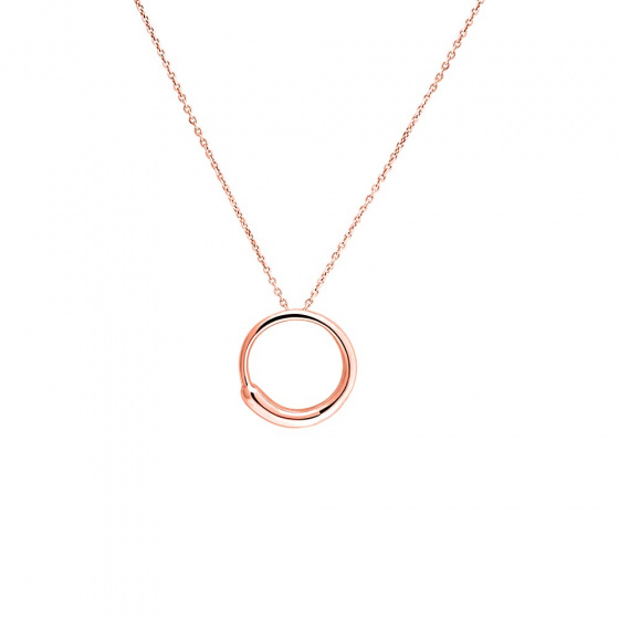 "Image of """"Perfect Zero"" silver pendant rose gold plated"""