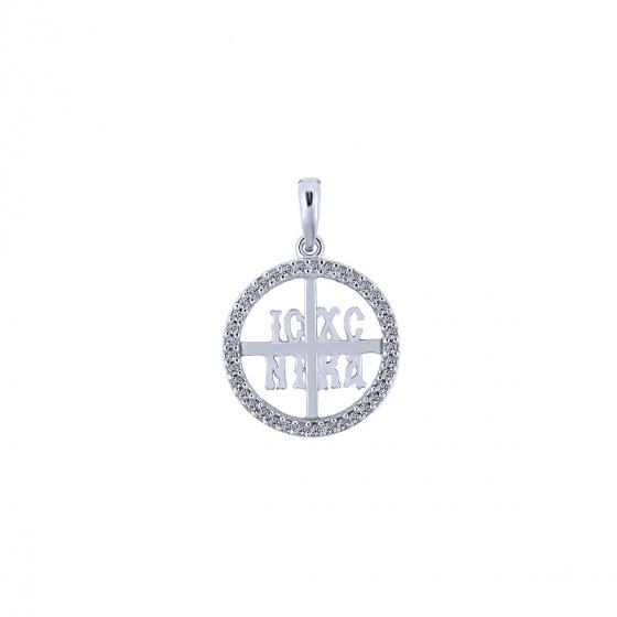 """Image of """"""""Constantinato #5"""" white gold K9 pendant """""""
