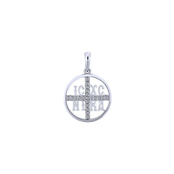 """Image of """"""""Constantinato #4"""" white gold K9 pendant"""""""