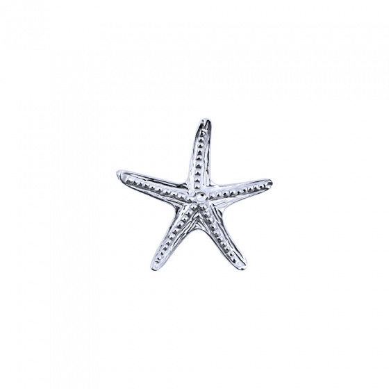 "Image of """"Starfish #2"" white gold K9 pendant"""