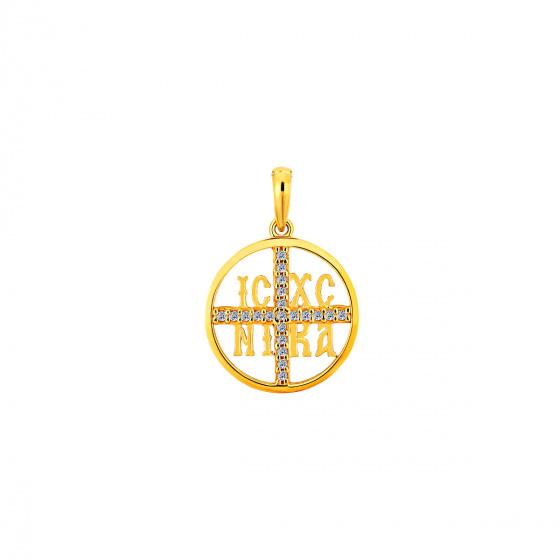 "Image of """"Constantinato #4"" gold K14 pendant """