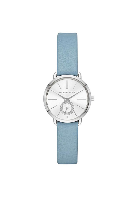 """Image of """"MICHAEL KORS Portia MK2733 Women's Watch with Light Blue Leather Strap"""""""