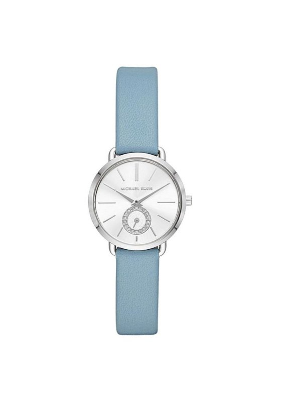 """Εικόνα του """"MICHAEL KORS Portia MK2733 Γυναικείο Ρολόι με Γαλάζιο Δερμάτινο Λουρί"""""""