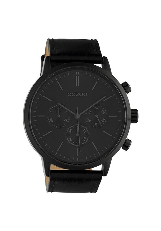 "Image of ""OOZOO Timepieces C10544 Men's Watch with Black Leather Strap"""