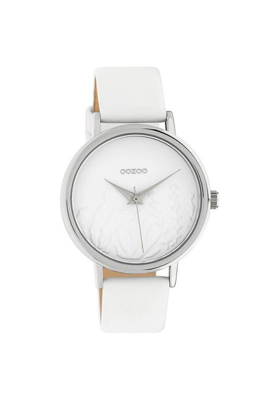 """Εικόνα του """"OOZOO Timepieces C10600 Γυναικείο Ρολόι με Λευκό Δερμάτινο Λουρί"""""""