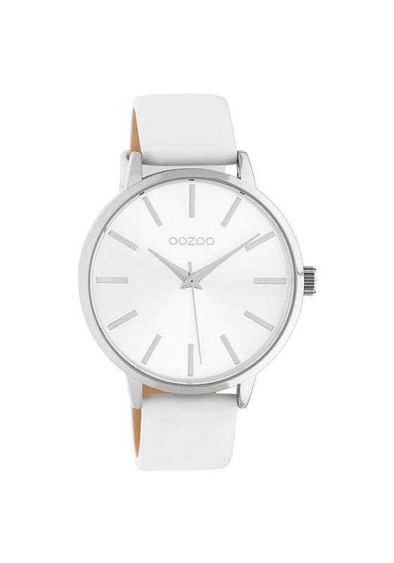 """Εικόνα του """"OOZOO Timepieces C10610 Γυναικείο Ρολόι με Λευκό Δερμάτινο Λουρί"""""""