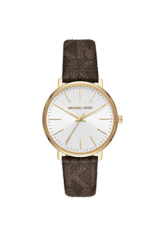"Image of ""MICHAEL KORS Pyper MK2857 Women's Watch with Brown Leather Strap"""