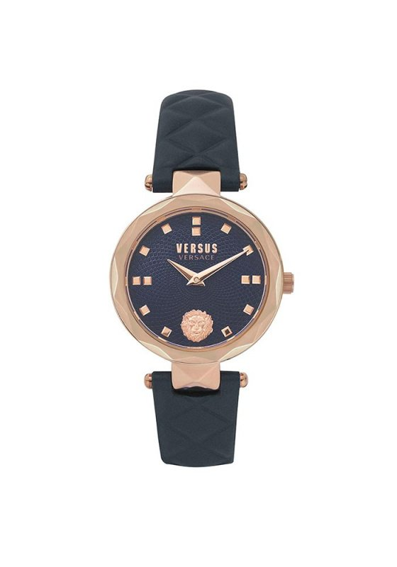"Image of ""VERSUS Govent Garden Petite VSPHK0420 Women's Watch with Blue Leather Strap"""