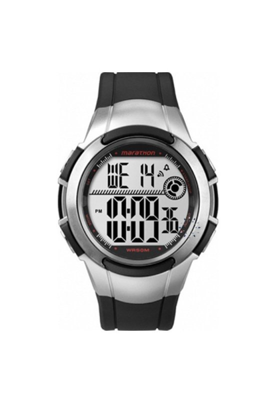 "Image of ""TIMEX Marathon T5K770 Men's Watch with Black Rubber Strap"""