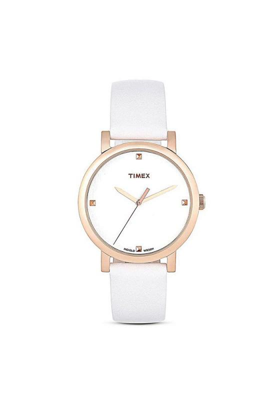 """Εικόνα του """"TIMEX Originals 2P460 Γυναικείο Ρολόι με Λευκό Δερμάτινο Λουρί"""""""