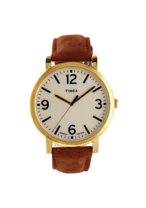 """Εικόνα του """"TIMEX Originals T2P527 Ανδρικό Ρολόι με Καφέ Δερμάτινο Λουρί (Δέρμα)"""""""