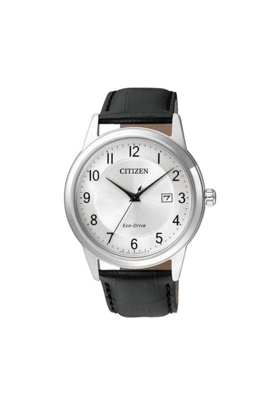 "Image of ""CITIZEN Eco-Drive AW1231-07A Men's Watch with Black Leather Strap"""