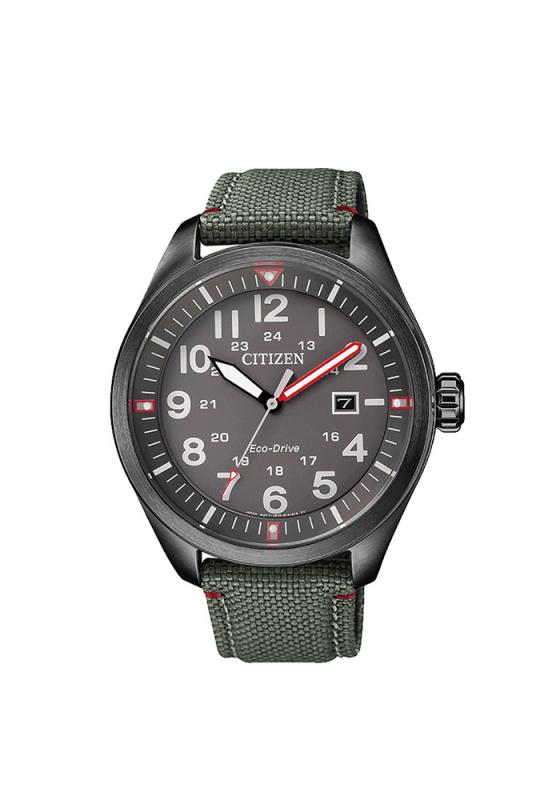 """Εικόνα του """"CITIZEN Eco-Drive AW5005-39H Ανδρικό Ρολόι με Πράσινο Υφασμάτινο Λουρί (Ύφασμα)"""""""