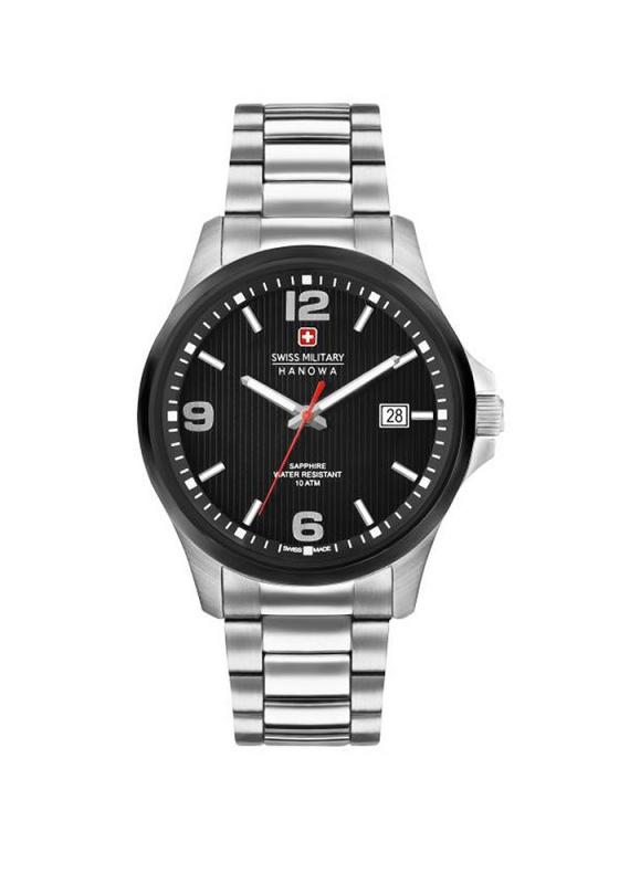 """Εικόνα του """"SWISS MILITARY Hanowa Observer 06-5277.33.007 Ανδρικό Ρολόι με Μπρασελέ (Ανοξείδωτο Ατσάλι)"""""""