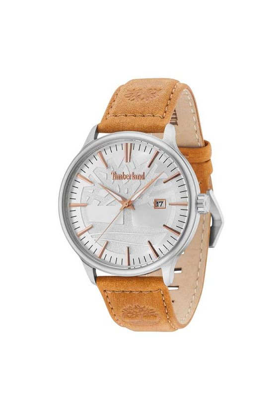 "Image of ""TIMBERLAND Edgemont TBL15260JS04 Men's Watch with Brown Leather Strap"""